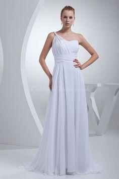 Wedding Dress, One Shoulder Wedding Dress
