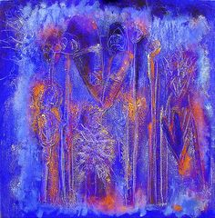 afrika | fetishshsh | 1999  80 x 80 cm tempera on canvas  -- Susan Richter