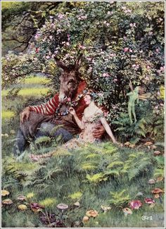A Midsummer Night's Dream, Titania Bottom and Puck Eleanor Fortescue Brickdale