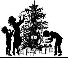 Retro  Christmas Silhouette  —  (1183x1000)