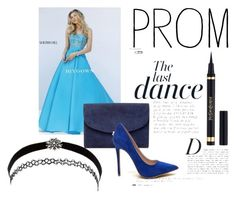 """A Line Prom Dress 2016 Sherri Hill 32362 Turquoise Strapless"" by chrissybarby ❤ liked on Polyvore featuring Sherri Hill, Mansur Gavriel, Anja, Charlotte Russe, Prom and biygown"