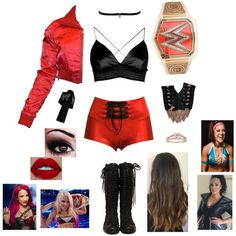 Wrestling Outfits, Wwe Outfits, Cute Teen Outfits, Outfits For Teens, Female Outfits, Polyvore Outfits, Boy Groups, Girl Group, Diva