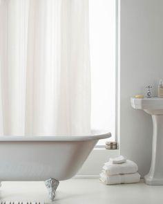 Stripe Hookless Shower Curtain