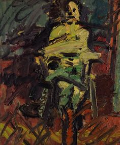 Frank Auerbach; Ruth Bromberg, Seated (1997)