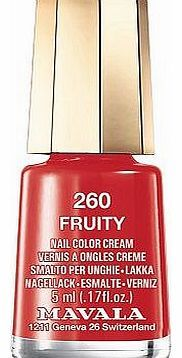Mavala nail polish fruity 5ml 10173652 16 Advantage card points. Mavala nail polish fruity 5ml Long-lasting quality polish produces a professional finish thats even, smooth and glossy, perfect little pots of colour that wont dry out before http://www.comparestoreprices.co.uk/nail-products/mavala-nail-polish-fruity-5ml-10173652.asp
