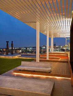 outdoor lighting strips on deck #patio #backyard