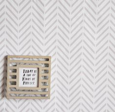 "Deconstructed Herringbone Removable Wallpaper Modern Wall Art - Spruce up any dull wall, cover the back of book shelves, brighten a dingy door, or cover a table top! - Includes one 24"" x 48"" tile. - 1"