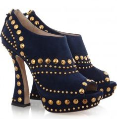 MIU MIU Studded suede ankle boots Navy $525  http://hollyrotic.mybigcommerce.com/miu-miu-studded-suede-ankle-boots-navy-525/