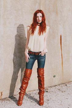 "beauties-in-boots: ""Boots "" #highheelbootsoutfit"