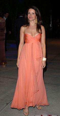 Kristin Davis Strapless Dress - Kristin Davis Looks - StyleBistro