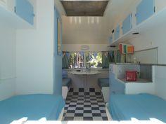 Australian Vintage Caravan  interior