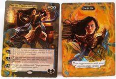 Narset Transcendent & Emblem Set MTG Magic Altered Art Custom Hand Painted OOAK #WizardsoftheCoast