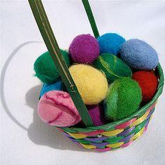 Wet Felt Easter Eggs