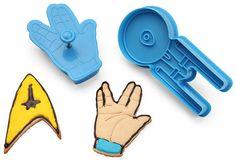 Moldes para galletas al estilo Star Trek