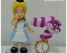 Topo de Bolo com vela Alice