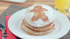 Pancakes for Santa! Get in the holiday spirit with gingerbread pancakes made with Texas Pure Milling Baking Mix.