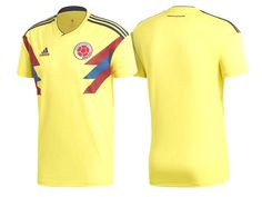 b2c6b7407 2018 World Cup Colombia Soccer Home Jersey Shirt Soccer Kits