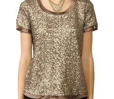Sequined Boxy Top