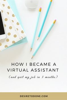 Tips and tricks for virtual assistants. Learn how to quit your job, become a virtual assistant, and put yourself out there (perfect for introverts! Business Help, Home Based Business, Online Business, Business Ideas, Make Money Online, How To Make Money, How To Become, I Quit My Job, Virtual Assistant Services
