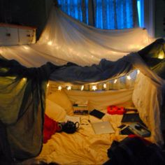 Built a fort tonight with my best friend. So much fun!
