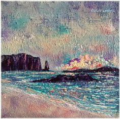 Sandwood Bay+Scottish Far North+Seascape+Vibrant+Colour+Acrylic+Nicola McLean