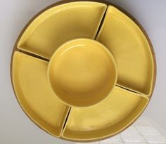A personal favorite from my Etsy shop https://www.etsy.com/listing/479782932/vintage-yellow-servingsnack-tray-set