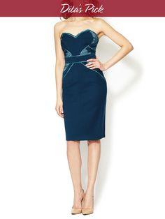 Strapless Sweetheart Dress by Zac Posen at Gilt