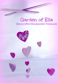 Handpainted Sweet Princess mobile by Garden of Ella http://facebook.com/Gardenofella
