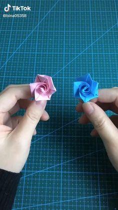Origami Ring, Instruções Origami, Cute Origami, Origami Videos, Paper Crafts Origami, Flower Oragami, Origami Flowers, Diy Crafts Hacks, Diy Crafts For Gifts