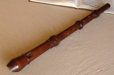 I love recorders...my main instrument. This is a beautiful boxwood tenor made by Bolton in France.