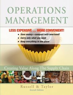 Operations Management: Creating Value Along the Supply Chain 7E Binder Ready Version by Roberta S. Russell. $140.36. Publication: October 18, 2010. Edition - 7. Publisher: Wiley; 7 edition (October 18, 2010)