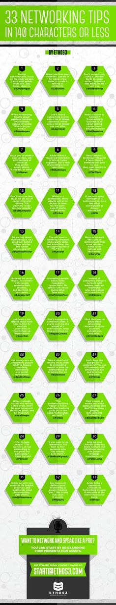 33 Networking Tips You Can Read Very Fast - The Muse: If you're short on time, this infographic will ...
