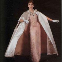 Lavin Castillo 1960's vintage evening dress and coat ensemble