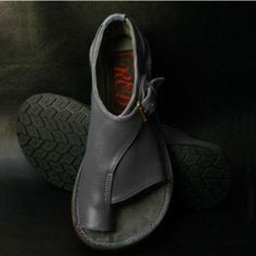 Stone Grey Honest Ladies Hotter Leather Trainers Shoes Velcro Closure Size 4.5