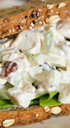 Fall Chicken Salad with Apples, Cranberries and Pecans