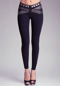 bebe | Heavy Metal Belted Leggings Just ordered these. Can't wait to wear them!