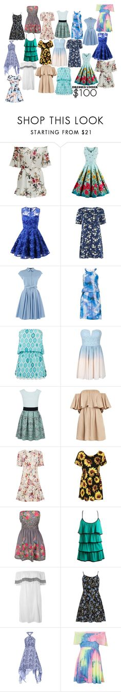 """""""Summer For Under $100"""" by lee-kenfin ❤ liked on Polyvore featuring Glamorous, Tara Jarmon, Vera Mont, ELIZABETH HURLEY beach, Closet, Warehouse, Topshop, Arden B., Dorothy Perkins and Chi Chi"""