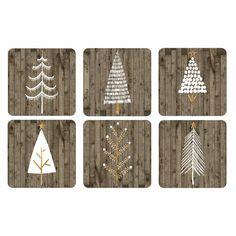 Pimpernel Pimpernel Wooden Christmas Coaster Wooden Christmas Crafts, Wooden Christmas Decorations, Rustic Christmas, Christmas Projects, Winter Wood Crafts, Christmas Ideas, Yule Crafts, Pallet Christmas, Winter Decorations