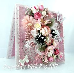 Beautiful Card from Vicky Pass, using MajaDesign's Sofiero papers.    #card #cardmaking #cardinspiration #papercraft #papercrafting #papercrafts #scrapbooking #majadesign #majadesignpaper #majapapers #inspiration #vintage