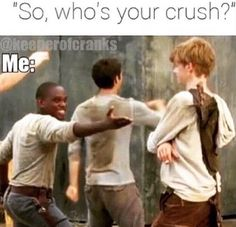 When someone asks me who my crush is?