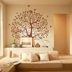 livingroom wall decoration with tree of life...
