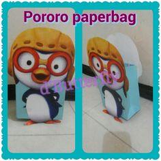 Pororo paperbag 2nd Birthday, Birthday Parties, Birthday Ideas, Minions, Diy And Crafts, My Love, Paper, Creative, Korean