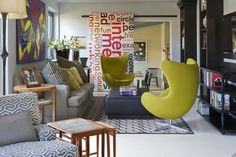 News and Trends from Best Interior Designers Arround the World Room Interior Design, Best Interior, Living Room Designs, Living Rooms, Egg Chair, Eclectic Decor, Sliding Doors, Floor Chair, Bean Bag Chair