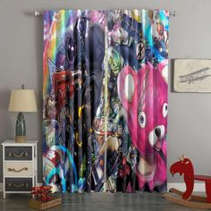 3d Printed Fortnite Style Custom Living Room Curtains