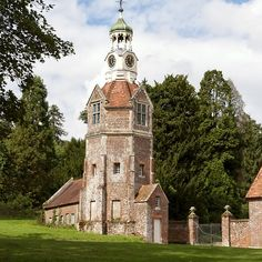 Breamore House Clock Tower, Hampshire, United Kingdom.