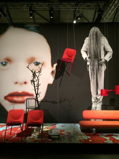 #Moooi showroom. Dramatic photography and styling along side beautiful digitally printed carpets #Milandesignweek2015