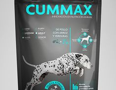 Dog food Packaging. CUMMAX Read more in: http://lovablepawsandclaws.com/