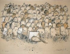 Ronald Searle Art Work - The Champions