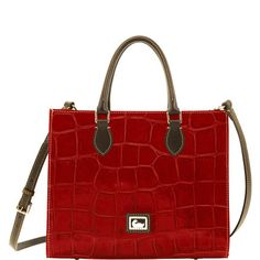 """I love this """"Janine"""" Dooney and Bourke Bag!  In the Red/Brown Tmoro.."""