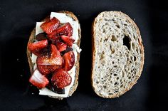 Roasted Strawberry, Brie + Chocolate Grilled Cheese | How Sweet It Is